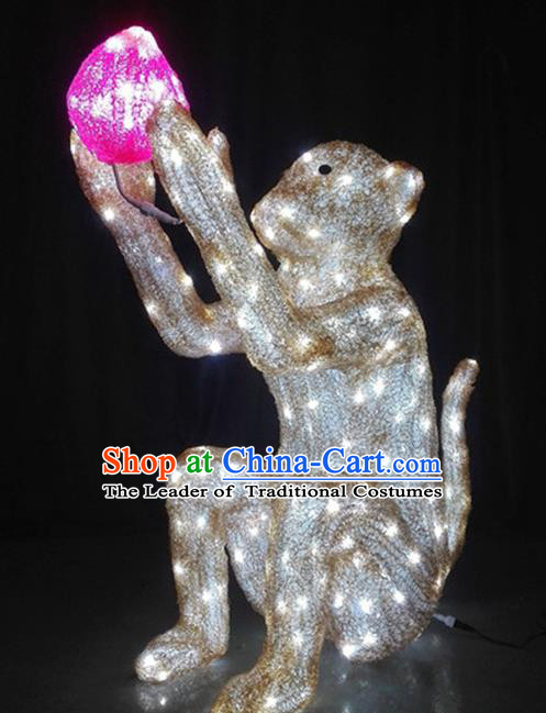 Traditional Handmade Chinese Zodiac Monkey Electric LED Lights Lamps Lamp Decoration