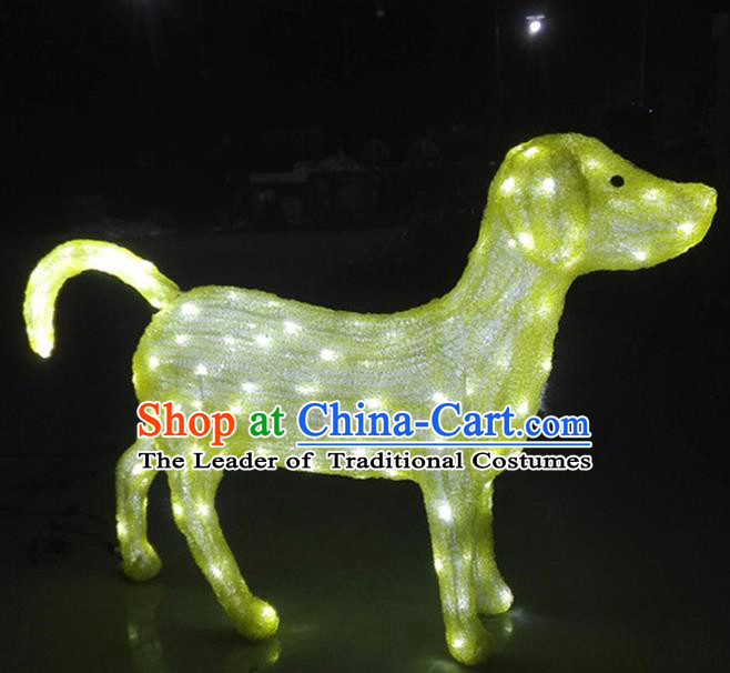 Traditional Handmade Chinese Zodiac Dog Electric LED Lights Lamps Lamp Decoration