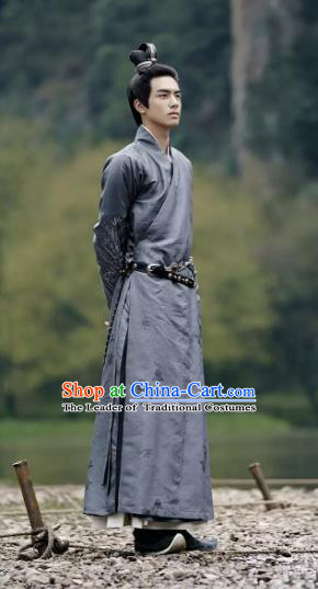 Untouchable Lovers Traditional Chinese Ancient Nobility Childe Costume Swordsman Knight-errant Rong Zhi Clothing for Men