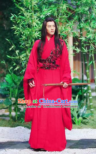 Untouchable Lovers Chinese Ancient Swordsman Hua Cuo Replica Costume for Men