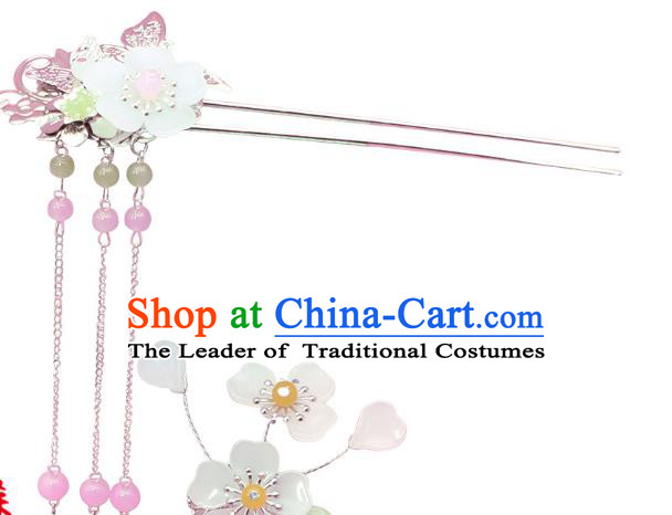 Chinese Ancient Hair Accessories Hanfu Hair Clips Traditional Tassel Hairpins Headwear for Women
