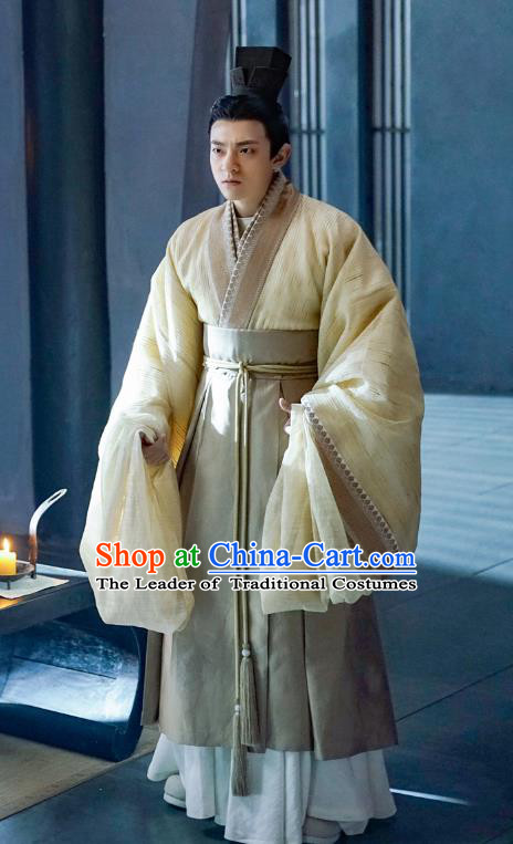Ancient Drama Untouchable Lovers Chinese Southern and Northern Dynasties Royal Highness Liu Xiulin Replica Costume for Men