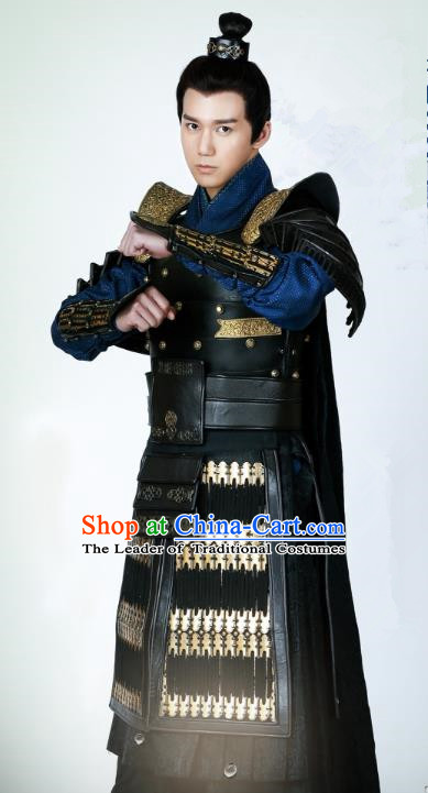 Chinese Ancient Drama Untouchable Lovers Southern and Northern Dynasties General Replica Costume for Men