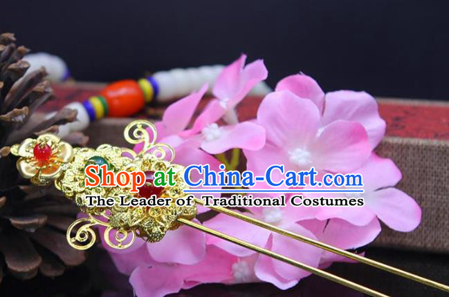 Chinese Ancient Hair Accessories Hanfu Hairpins Traditional Palace Lady Headwear for Women