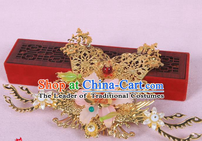 Chinese Ancient Hair Accessories Hanfu Hairpins Hair Comb Traditional Palace Headwear for Women