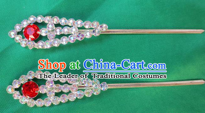 Chinese Traditional Folk Dance Hair Accessories Beijing Opera Hairpins Headwear for Women