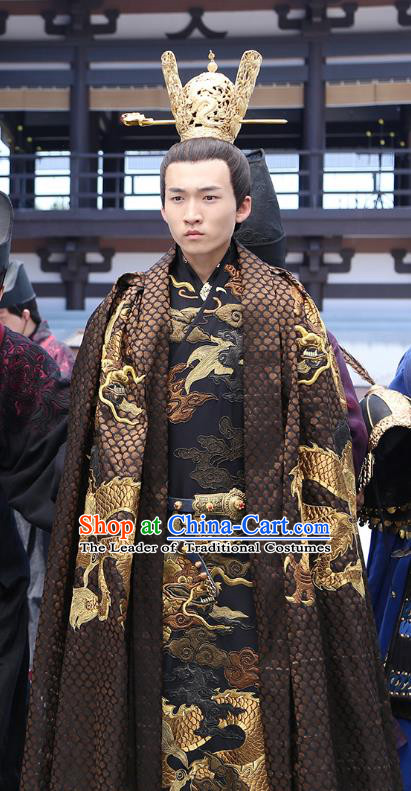 Chinese Ancient Emperor Hanfu Clothing Untouchable Lovers Southern and Northern Dynasties Monarch Replica Costume for Men