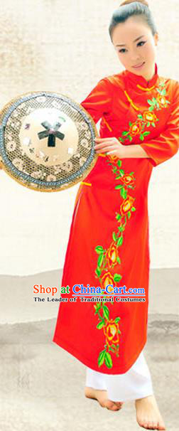 Traditional Chinese Jing Nationality Costume, China Jing Ethnic Minority Dance Clothing and Hats for Women