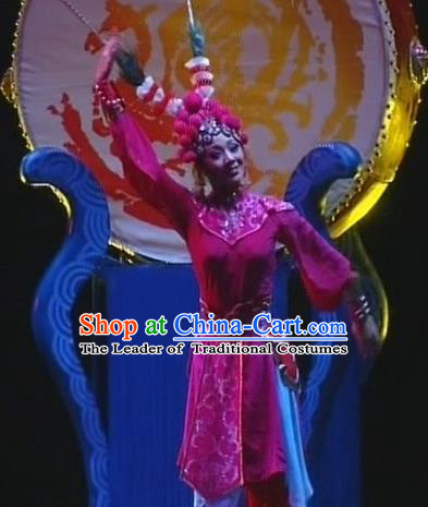 Traditional Chinese Beijing Opera Classical Dance Costume, China Stage Performance Dress Clothing for Women