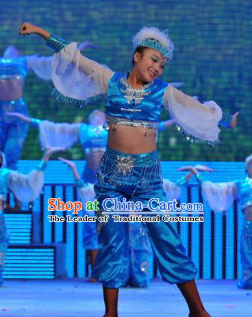 Traditional Chinese Dance Costume, China Folk Dance Classical Dance Clothing for Women