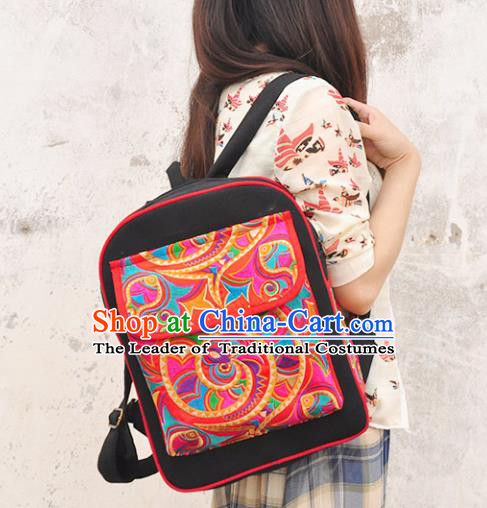 Chinese Traditional Embroidery Craft Embroidered Backpack Bags Handmade Handbag for Women