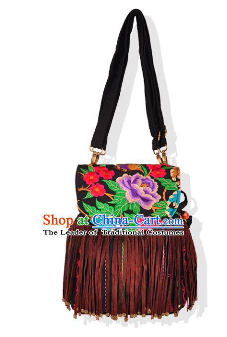 Chinese Traditional Embroidery Craft Embroidered Tassel Bags Handmade Handbag for Women