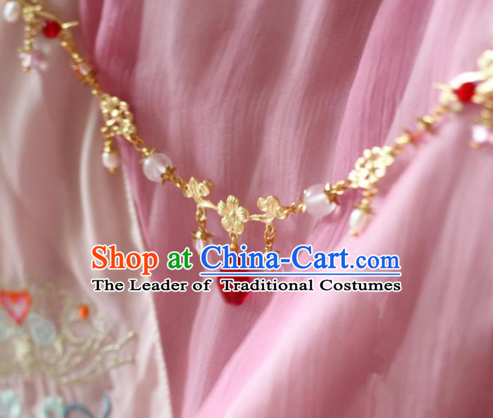 Chinese Traditional Ancient Hair Accessories Classical Eyebrows Pendant Hanfu Hairpins for Women
