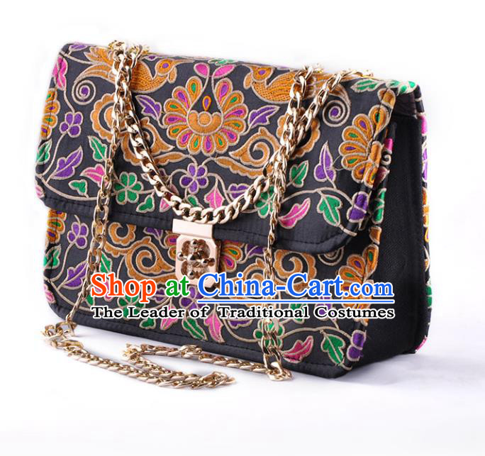 Chinese Traditional Embroidery Craft Embroidered Chain Bags Handmade Handbag for Women
