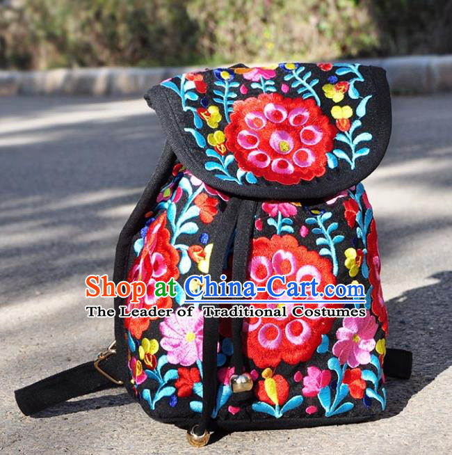 Chinese Traditional Embroidery Craft Embroidered Flowers Bags Handmade Handbag for Women