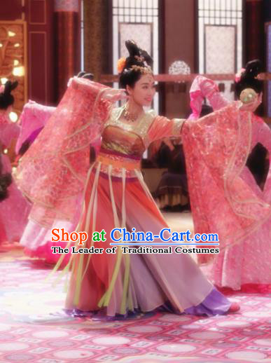Ancient Chinese Tang Dynasty Palace Lady Dance Dresses Empress Embroidered Costumes for Women