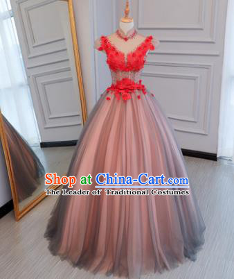 Top Grade Wedding Costume Evening Dress Advanced Customization Bubble Dress Compere Bridal Full Dress for Women