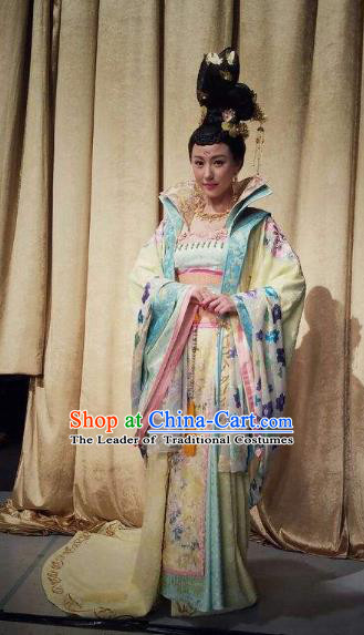 Chinese Tang Dynasty Palace Infanta Hanfu Dress Ancient Nobility Lady Embroidered Costumes for Women