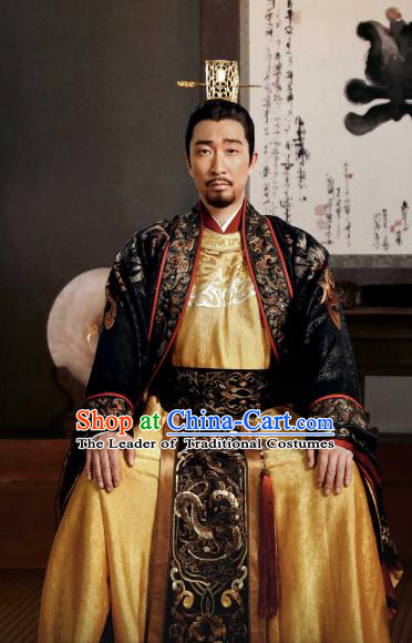 Tribes and Empires:Storm of Prophecy Chinese Ancient Royal Highness Embroidered Costumes for Men