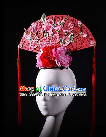 Top Grade China Traditional Hair Accessories Halloween Royal Crown Stage Performance Modern Fancywork Headwear