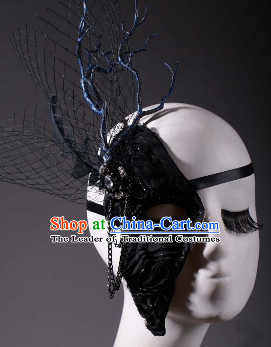 Halloween Fancy Ball Props Exaggerated Branch Face Mask Stage Performance Accessories Christmas Mysterious Masks