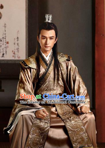 Tribes and Empires:Storm of Prophecy Chinese Ancient Prince Embroidered Costumes for Men