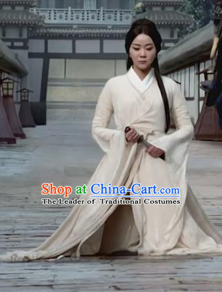 Chinese Teleplay Tribes and Empires:Storm of Prophecy Ancient Palace Lady Embroidered Costumes for Women