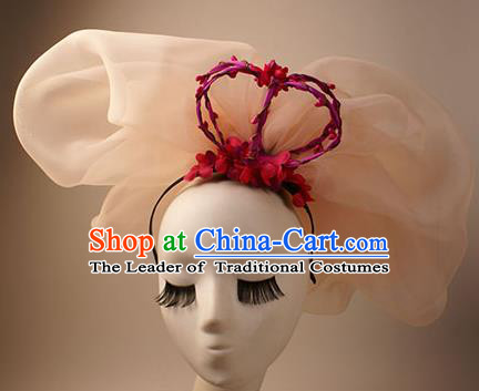 Top Grade Catwalks Hair Accessories Royal Crown Halloween Stage Performance Hair Clasp Modern Fancywork Headwear