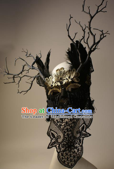 Halloween Exaggerated Face Mask Fancy Ball Props Stage Performance Accessories Christmas Mysterious Masks
