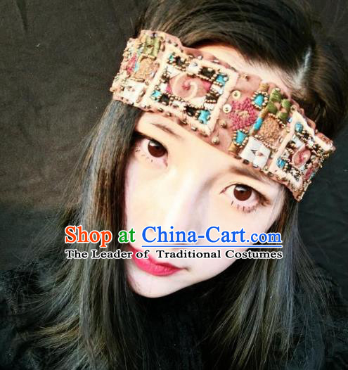 Top Grade Catwalks Hair Accessories Exaggerated Bohemian Headband Modern Fancywork Headwear