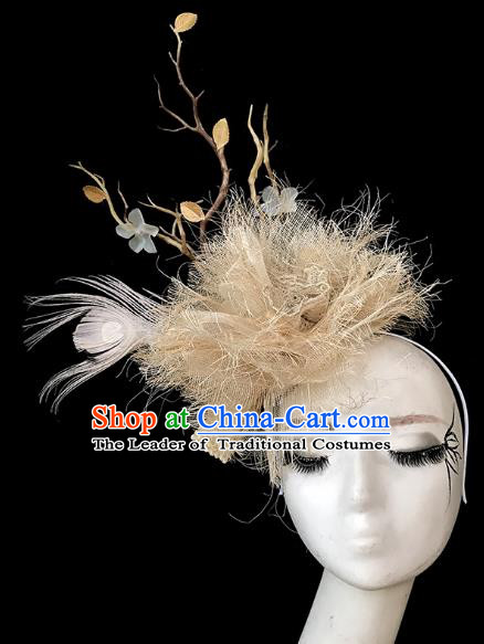 Top Grade Catwalks Hair Accessories Exaggerated Hair Clasp Modern Fancywork Headwear