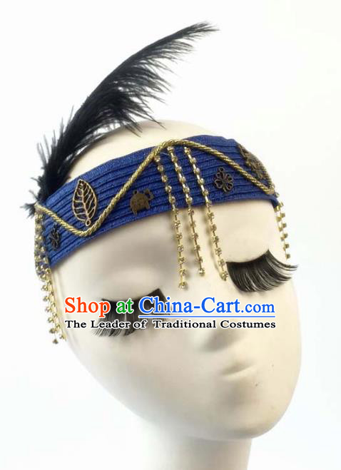 Top Grade Catwalks Hair Accessories Exaggerated Headband Halloween Modern Fancywork Headwear