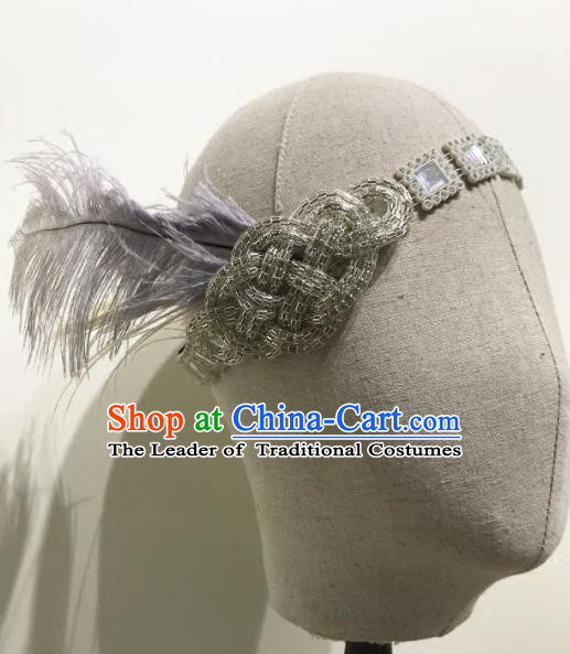 Top Grade Catwalks Hair Accessories Exaggerated Feather Headband Halloween Modern Fancywork Headwear