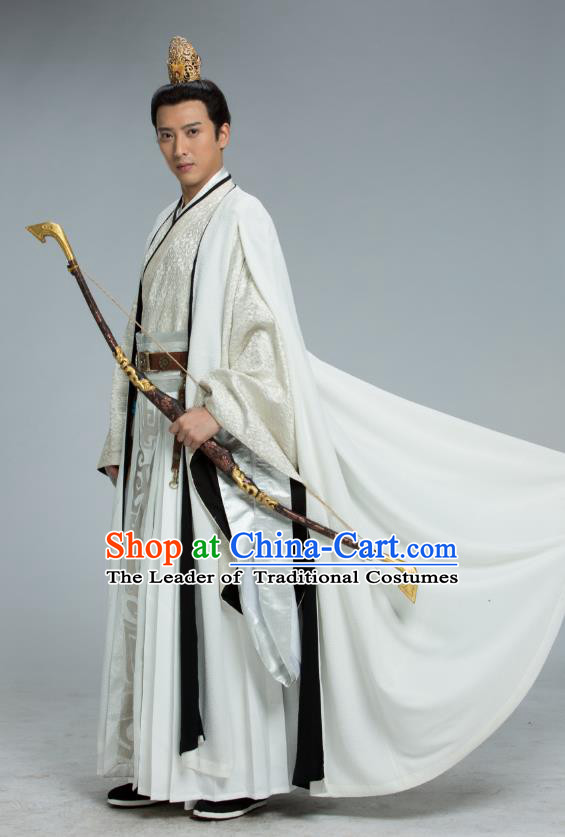 Chinese Ancient Northern Zhou Dynasty Imperial Emperor Yuwen Yong Historical Costume for Men