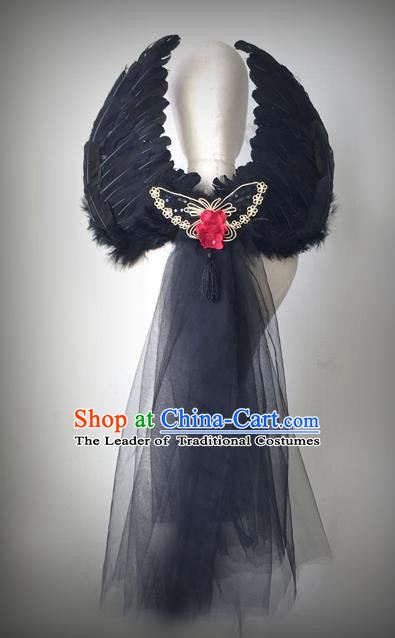 Halloween Handmade Feather Wings Fancy Ball Catwalks Props Christmas Exaggerated Feather Wing