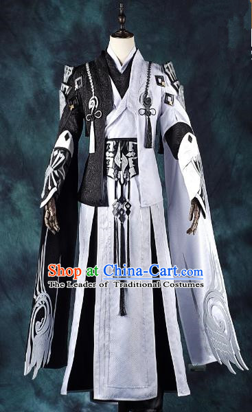 China Ancient Cosplay Swordsman Costumes Chinese Traditional Knight-errant Clothing for Men