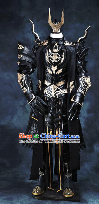 China Ancient Cosplay Swordsman Costumes General Armour Chinese Traditional Knight-errant Clothing for Men