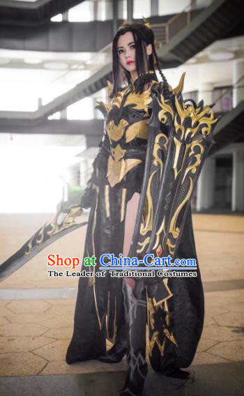 China Ancient Cosplay Female Warrior Swordsman Costumes Chinese Traditional Heroine Knight-errant Clothing for Women
