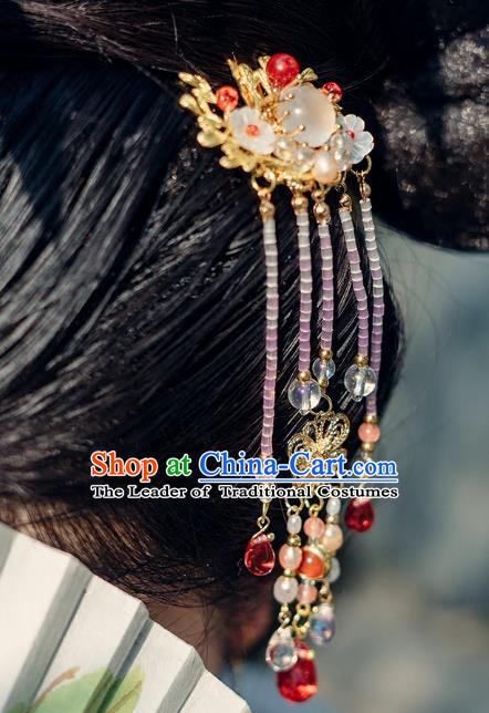 China Ancient Hair Accessories Hanfu Tassel Hair Comb Chinese Classical Hairpins for Women