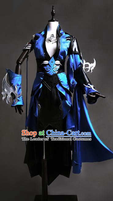 China Traditional Cosplay Swordsman Costumes Chinese Ancient Kawaler Knight-errant Clothing for Men