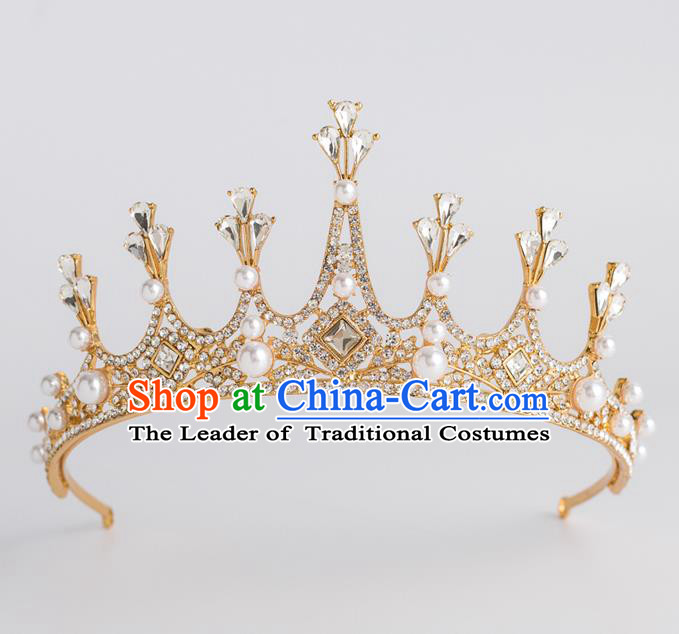 Baroque Bride Hair Accessories Classical Wedding Royal Crown Princess Imperial Crown Headwear for Women
