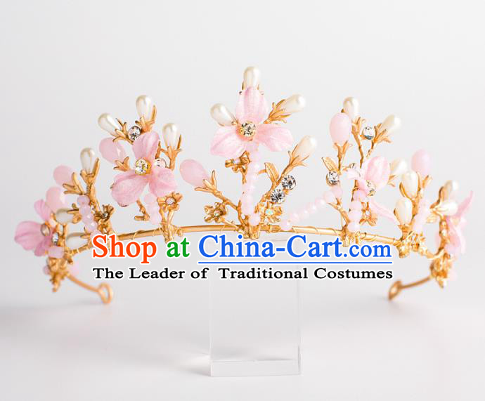 Baroque Bride Hair Accessories Classical Wedding Hair Clasp Retro Flowers Imperial Crown Headwear for Women