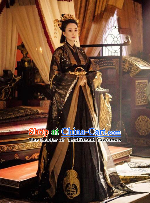 Legend Of Fu Yao Chinese Ancient Imperial Empress Trailing Embroidered Historical Costume for Women