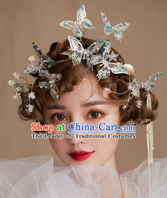 Classical Bride Hair Accessories Wedding Butterfly Hair Clasp Headwear for Women