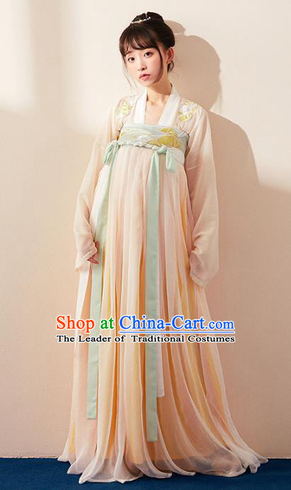 Chinese Ancient Tang Dynasty Palace Lady Costume Traditional Princess Hanfu Dress for Women