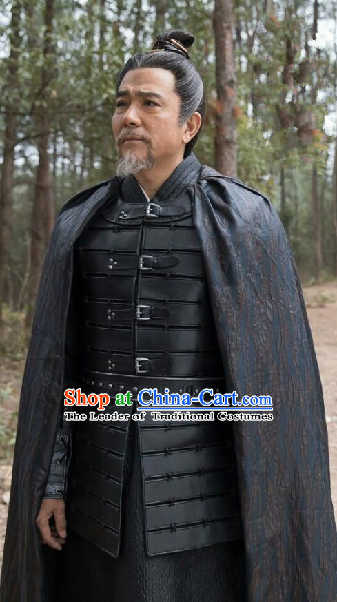 c406698a9 Chinese Ancient Television Drama Nirvana in Fire General Xiao Tingsheng Armour  Replica Costume for Men