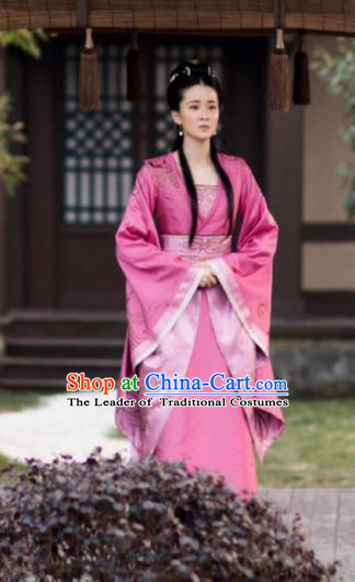 Chinese Ancient Princess Consort Hanfu Dress Television Drama Nirvana in Fire Palace Lady Embroidered Replica Costume for Women