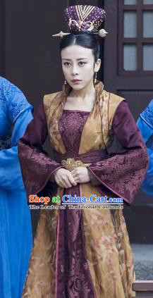 Chinese Ancient Royal Infanta Clothing Television Drama Nirvana in Fire Viscountess Chonghua Replica Costume for Women