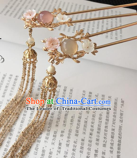 Traditional Handmade Chinese Ancient Classical Hair Accessories Hair Sticks Tassel Hairpins for Women