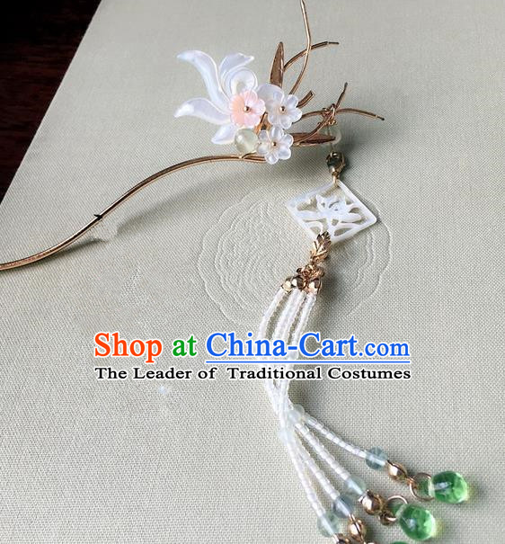 Traditional Handmade Chinese Ancient Classical Hair Accessories Hairpins Beads Tassel Hair Stick for Women
